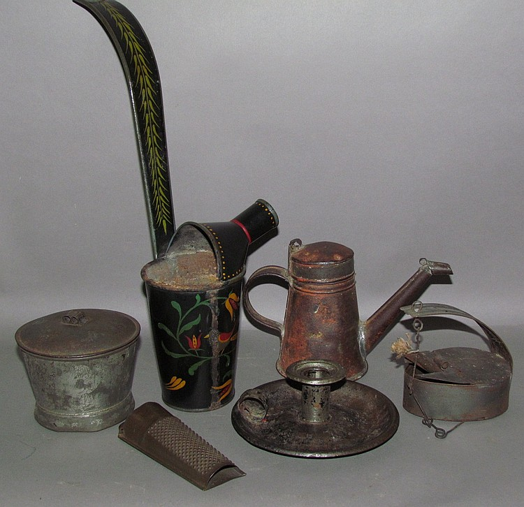 Group of American tinware