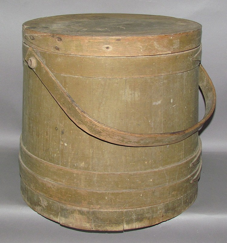 Painted wooden 10 gallon firkin