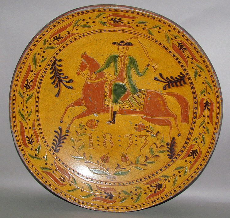 Shooner sgraffito charger