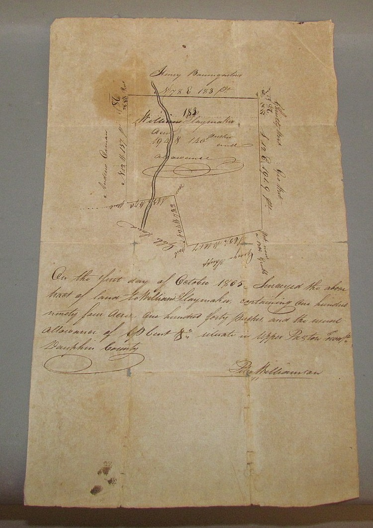 William Slaymaker property land draft