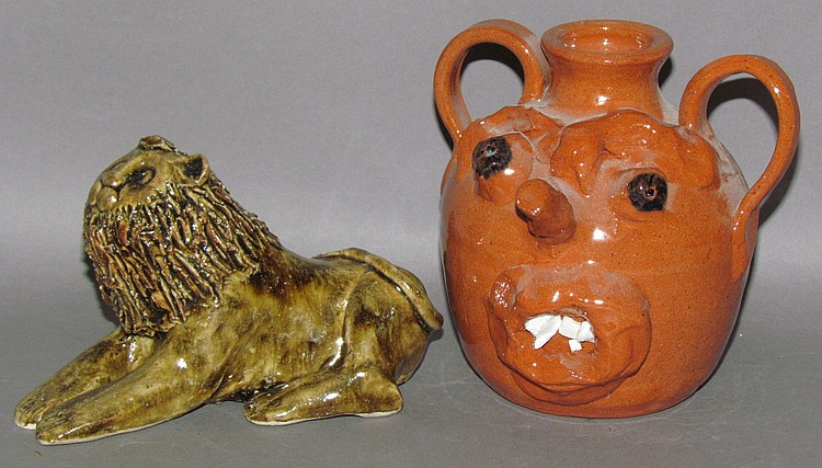 2 pieces of reproduction pottery