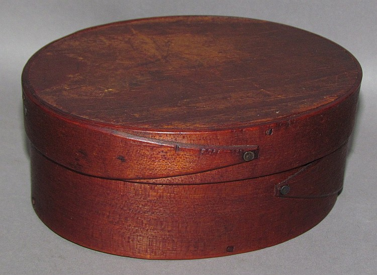 B. Sprague signed oval bentwood pantry box