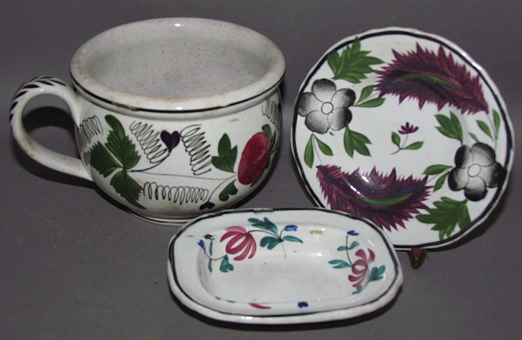 3 miscellaneous English Staffordshire items