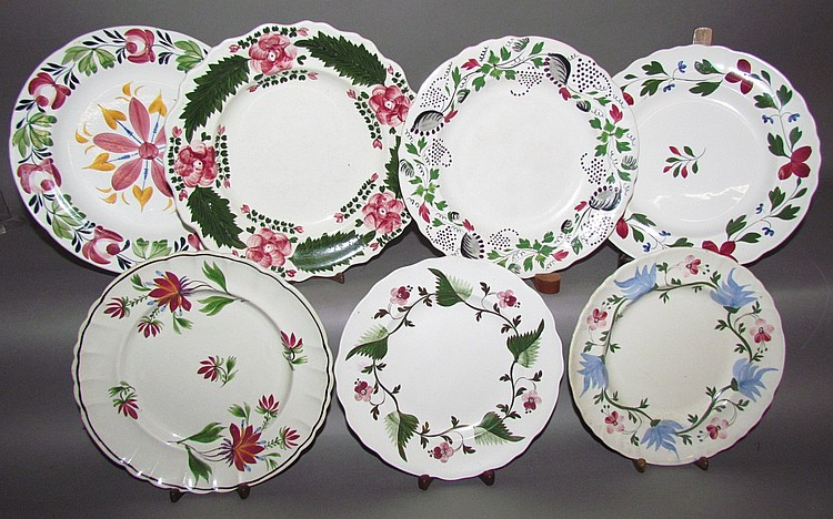 Group of 7 English Staffordshire plates