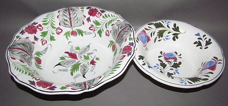 2 English Staffordshire bowls