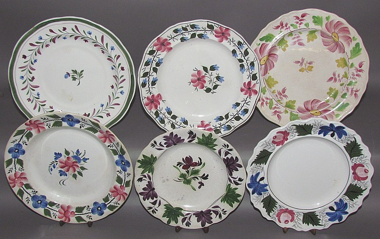 Group of 6 English Staffordshire plates