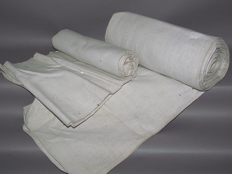 2 bolts of homespun linen