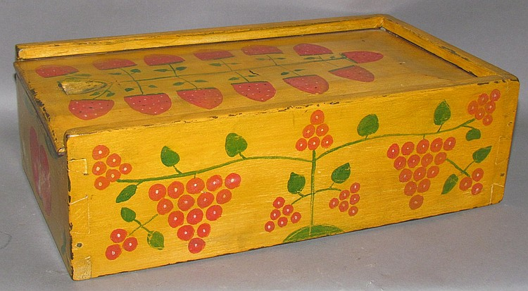 Paint decorated slide lid box