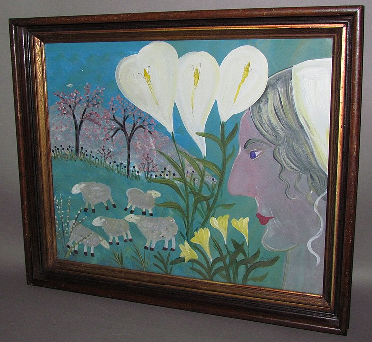 Strawser folk art painting