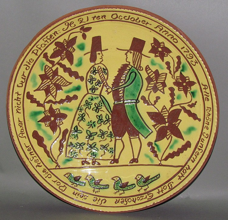 Dorothy Long sgraffito charger
