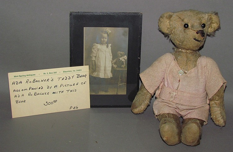 Teddy bear & photo of girl