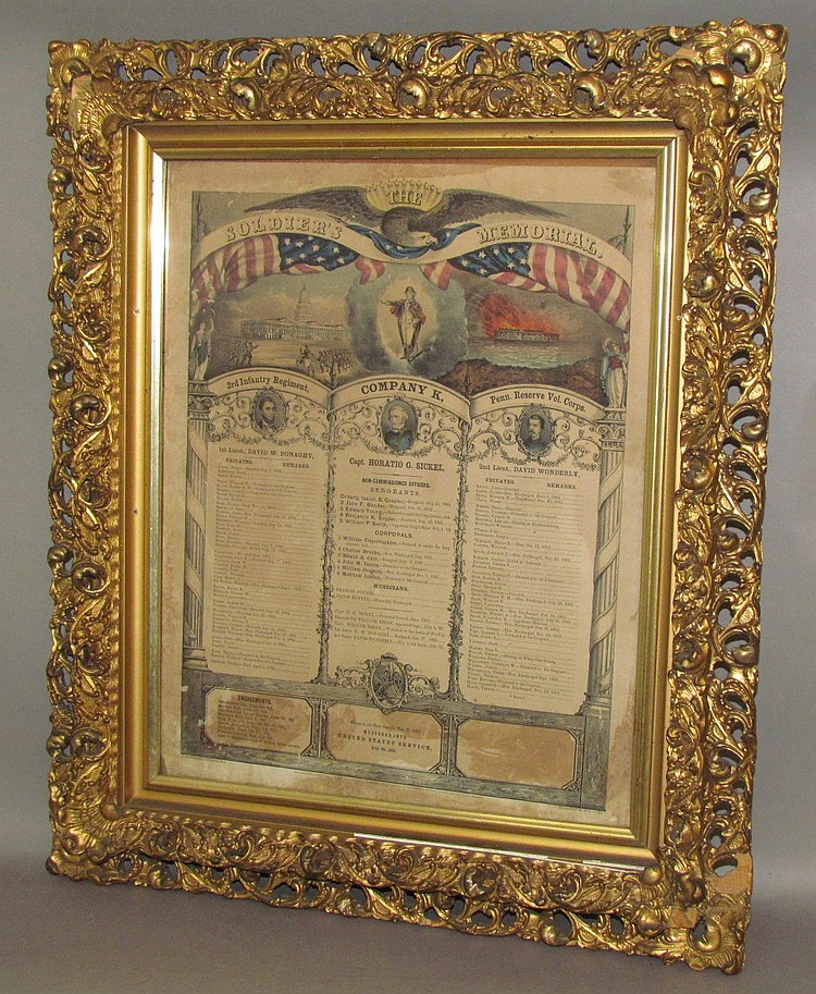 "Lithograph titles ""The Soldiers Memorial"""