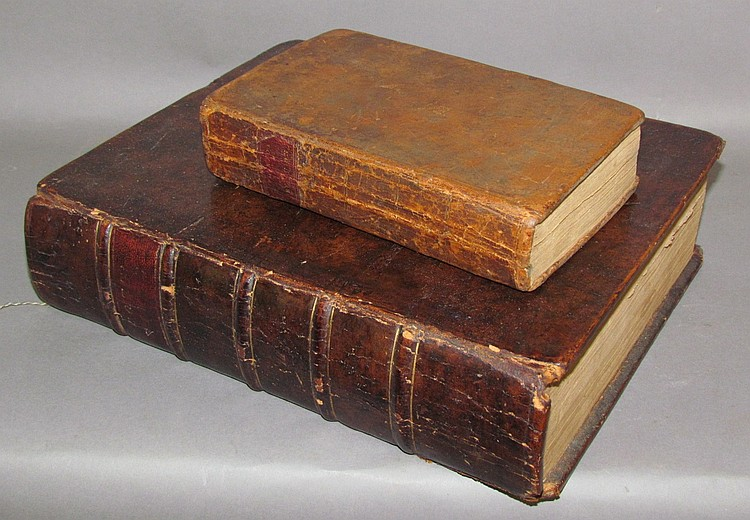 2 leather bound imprints