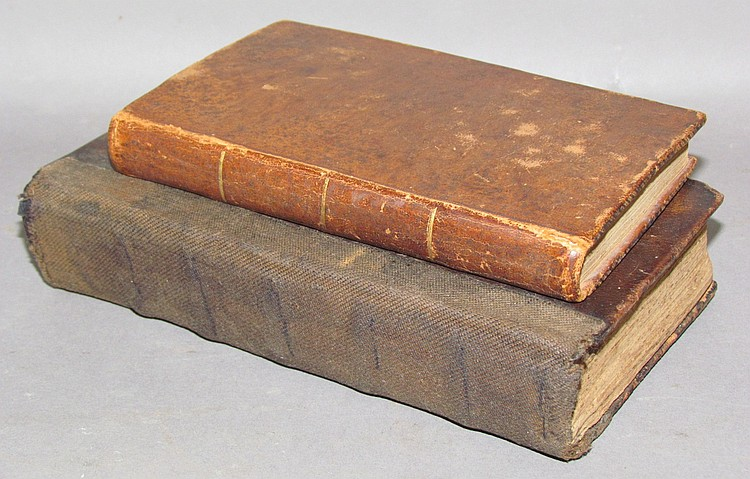 2 leather bound German imprints