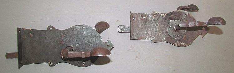 2 Moravian style hand wrought door latch locks
