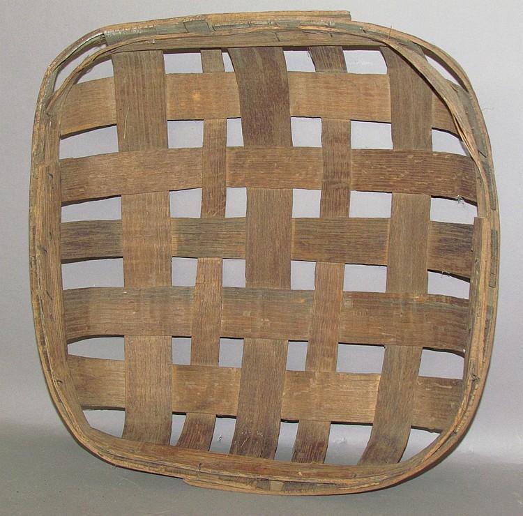 Square oak tobacco leaf basket