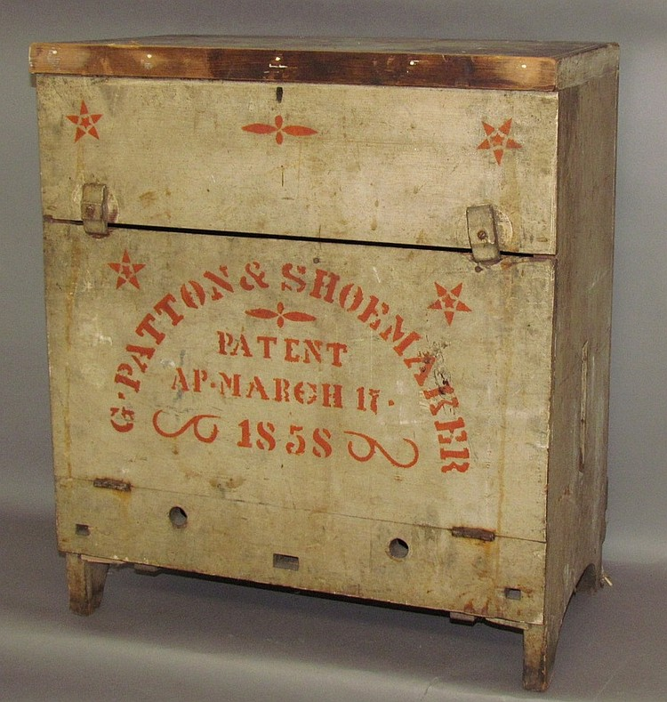 Wooden beehive box