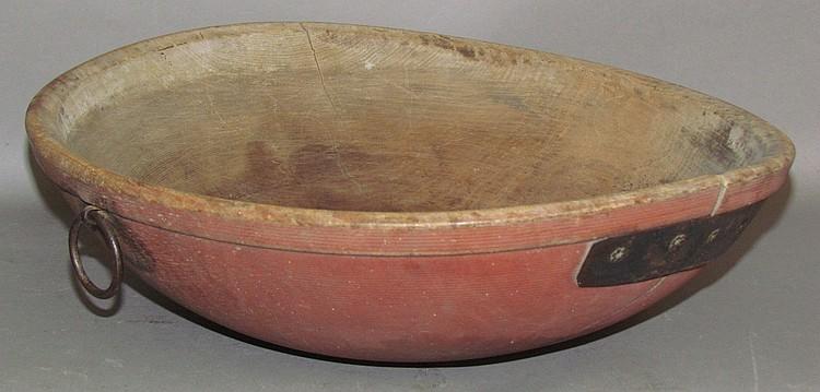 Lot 438: Wooden butter bowl