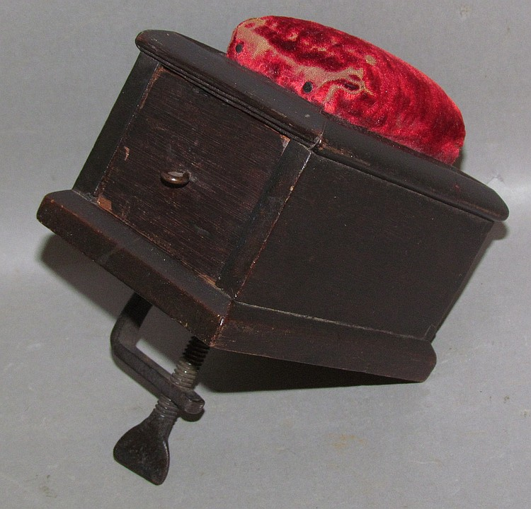 Shaker walnut & iron sewing box