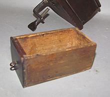 Lot 436: Shaker walnut & iron sewing box