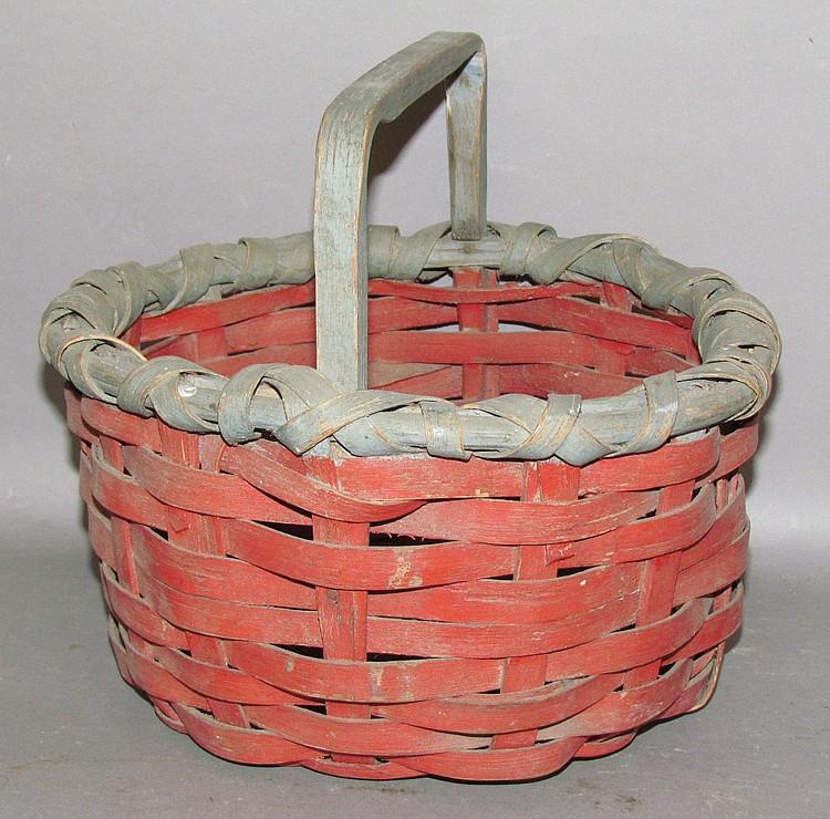 """Paint deocrrate Taghkanic style """"bush wacker"""" basket"""