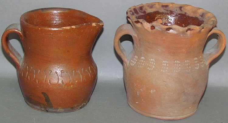 2 Henry Schofield redware items