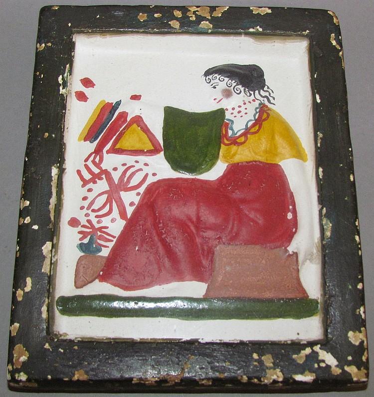 Unusual cast chalkwall plaque