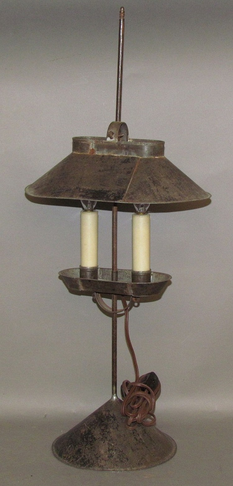 Lot 374: Jerry Martin hooded tin lamp