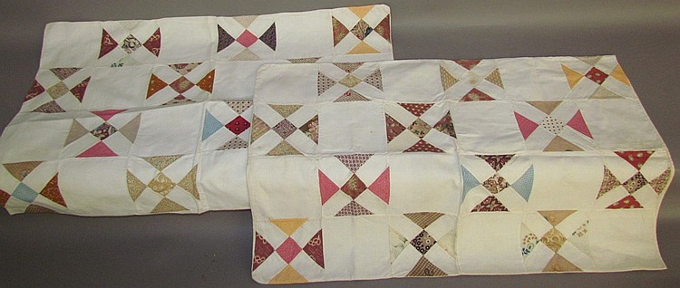 Lot 458: Fine pair of patchwork pillowcases