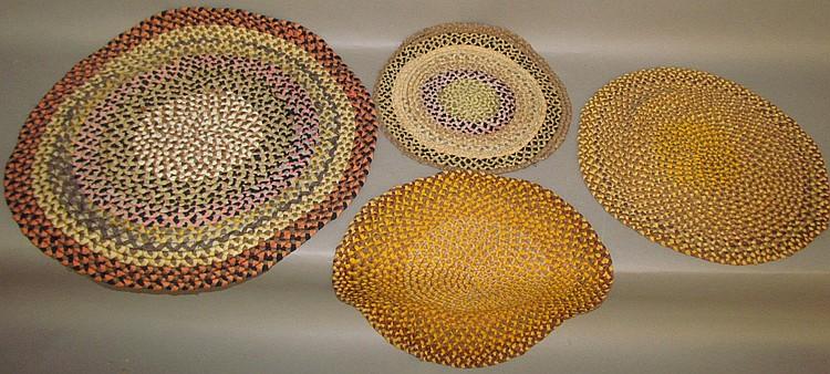 4 vintage fine braided mats