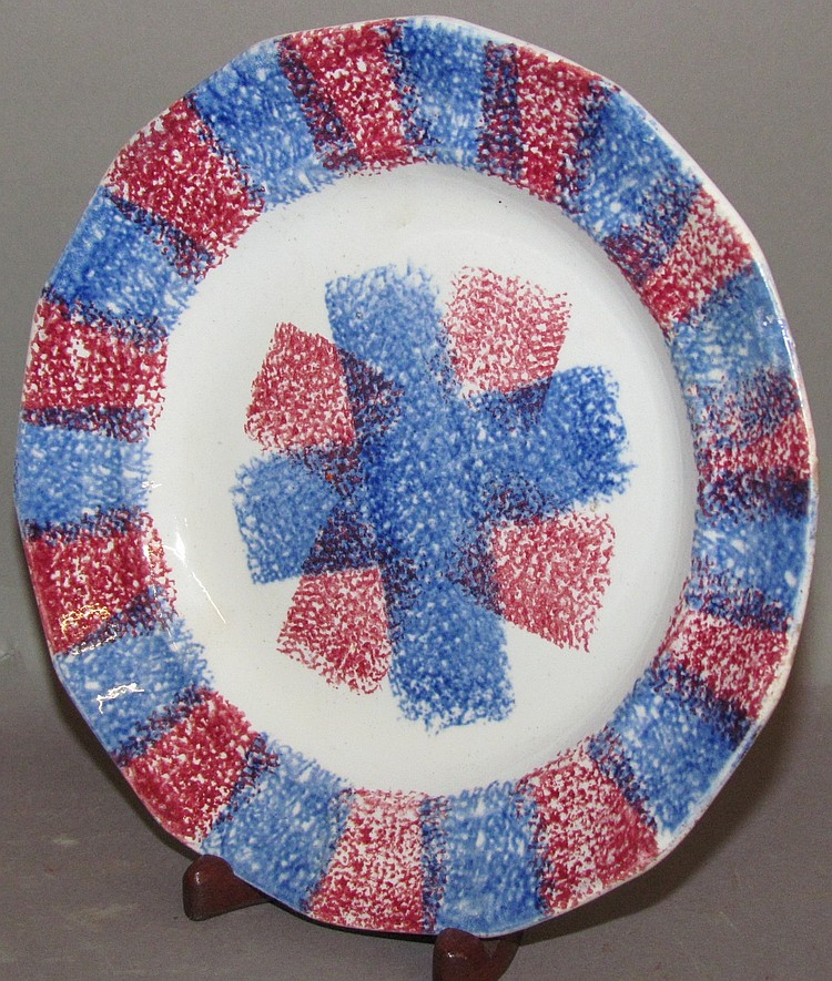 Rainbow spatter side plate