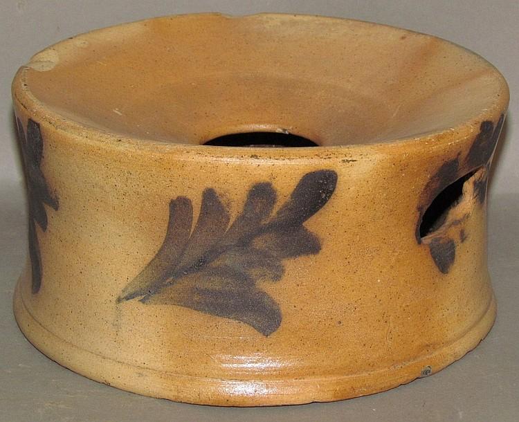 Cobalt decorated stoneware cuspidor