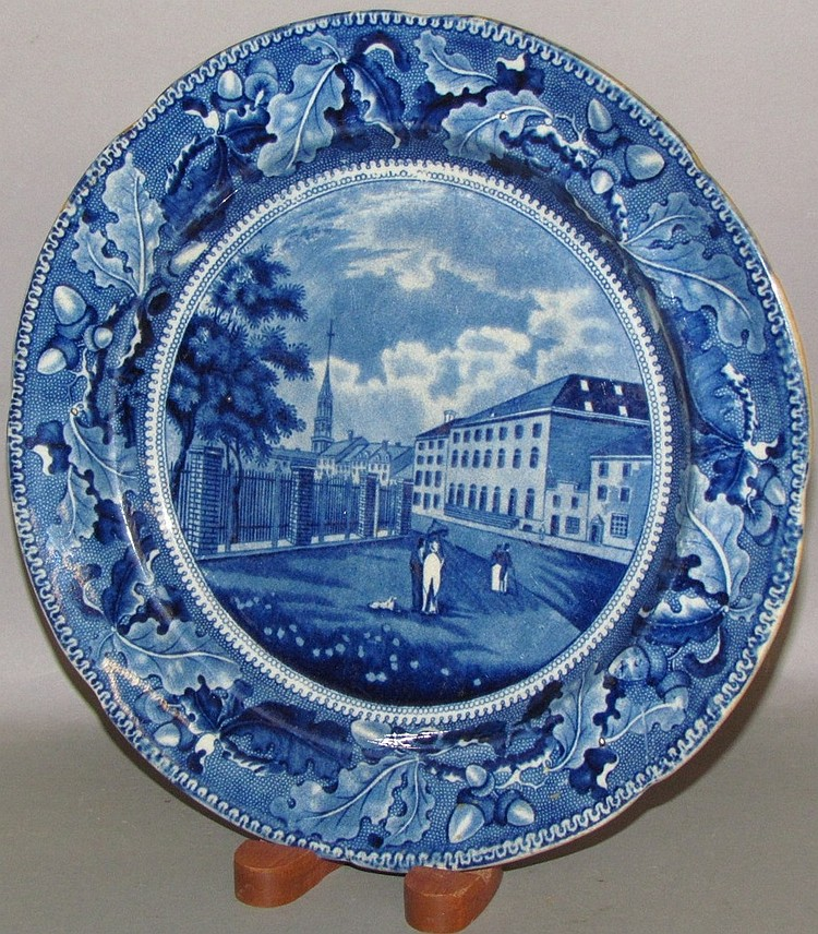 Lot 312: Park Theatre Historical Blue plate