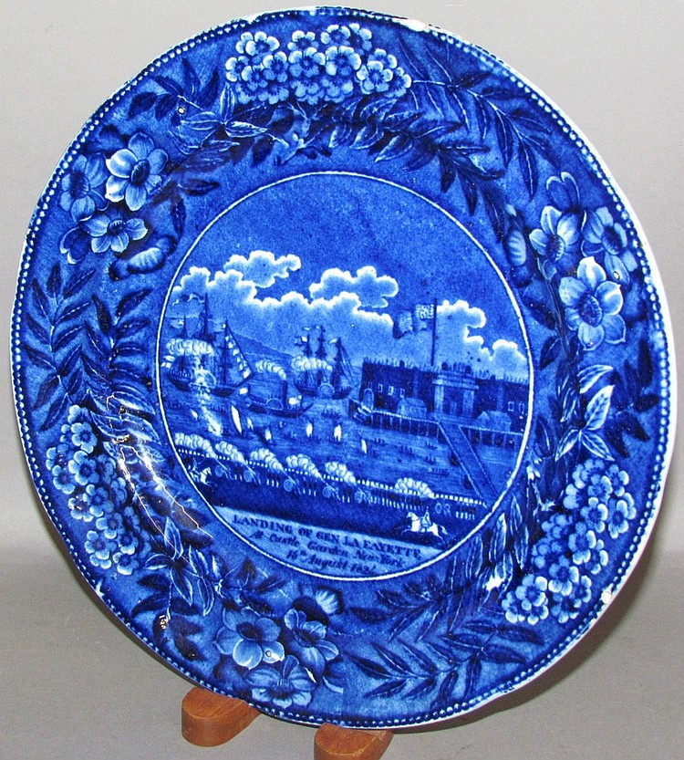 Landing of Lafayette Historical Blue plate