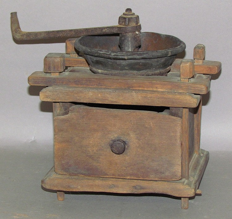 Primitive form box style coffee mill