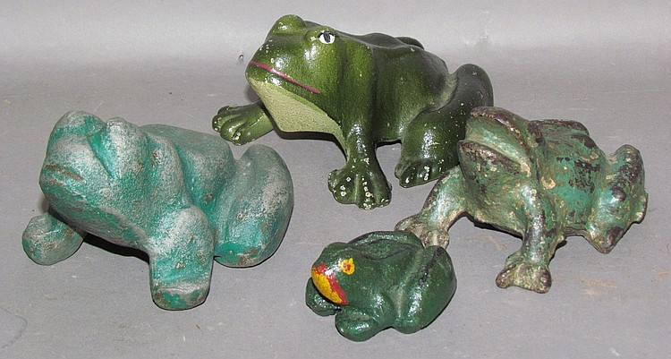 4  cast iron frogs