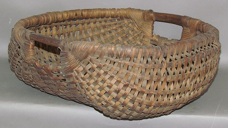Lot 366: Large melon shaped gathering basket