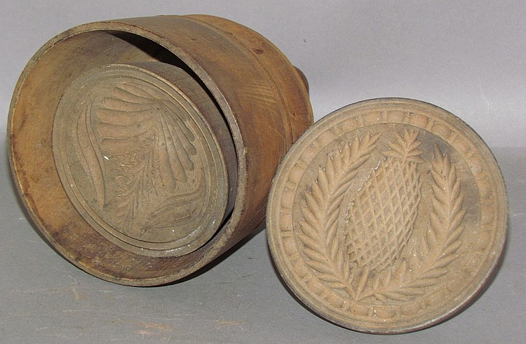 Lot 367: 2 carved wood butterprints