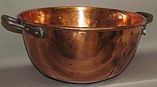Lot 365: Copper candy kettle & iron tripod