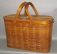 "Lot 362: Hawkeye ""refrigerator"" picnic basket"