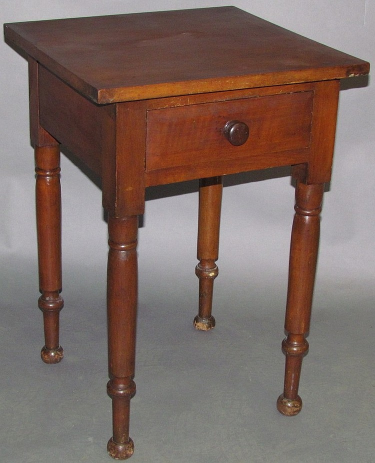 Lot 468: Cherry one drawer stand