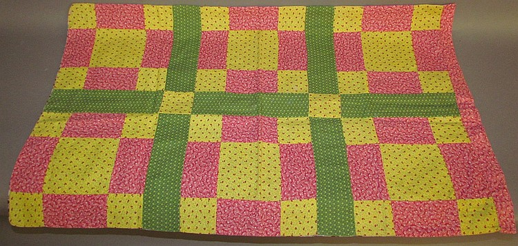 Patchwork calico fabric pillow case