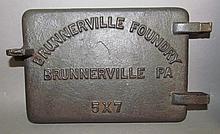 Lot 354: Mt. Penn damper & Brunnerville stove door