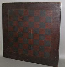 Lot 283: Walnut paint decorated chess board