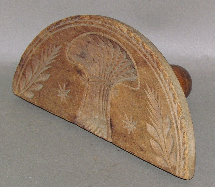 Early half round wheat sheath design butter print