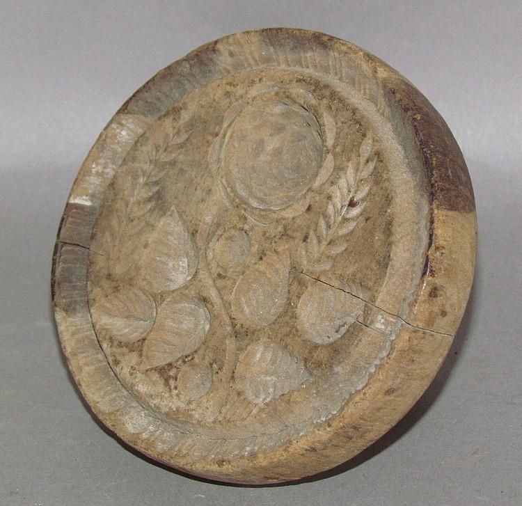 Carved rose design butter print