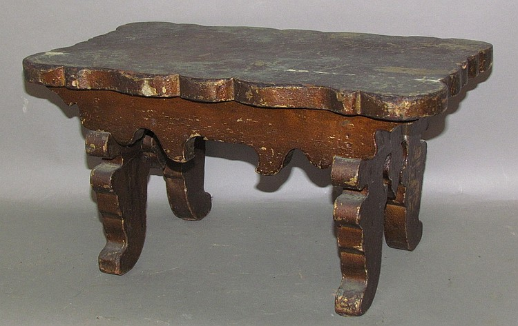 Victorian scrollwork footstool