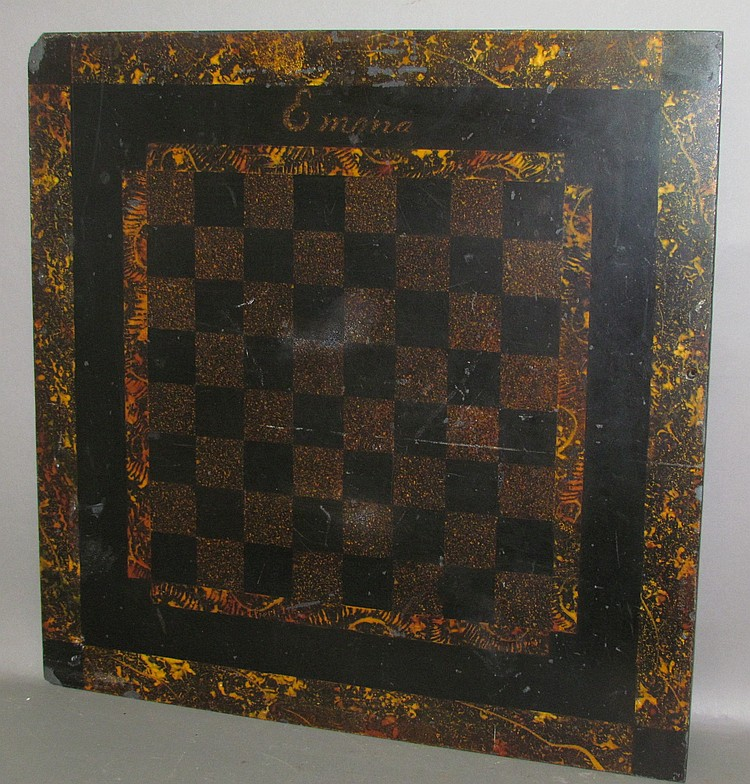 PA slate painted checkerboard