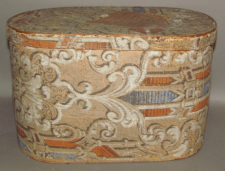 Pittsburgh wallpaper covered hat box