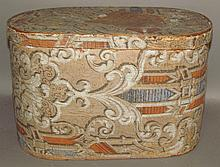 Lot 421: Pittsburgh wallpaper covered hat box